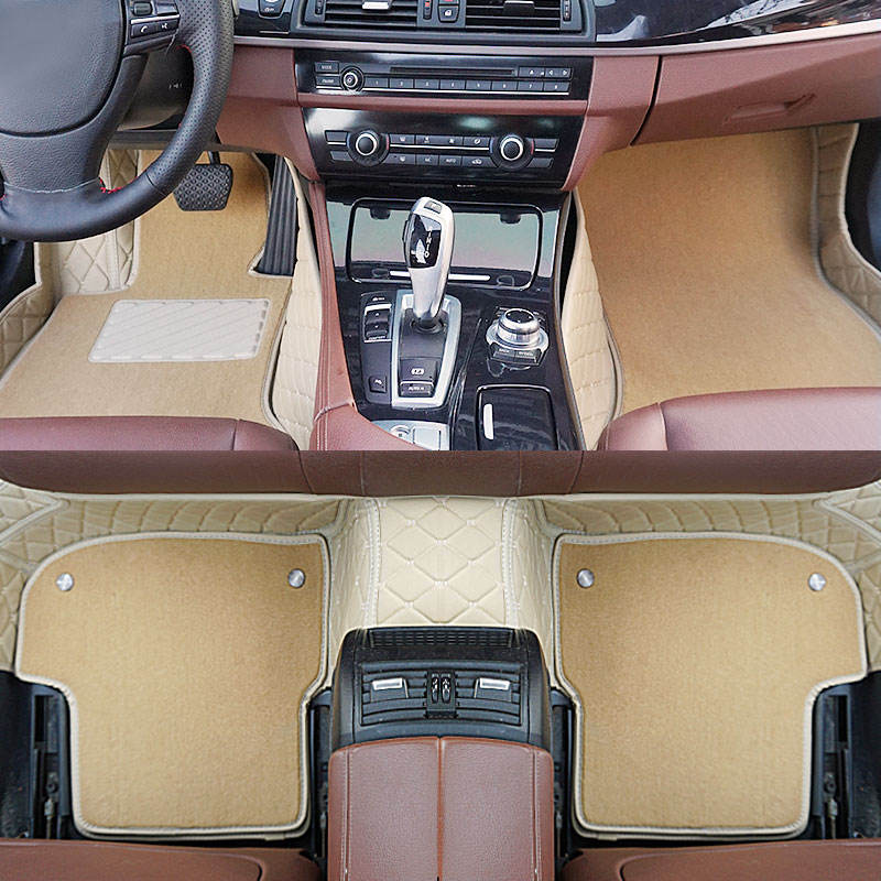 waterproof and skidproof High quality Classic Heavy leather car foot mat