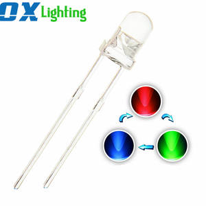 3 Mm RGB LED Dioda 5 Mm LED Dioda 3 V Multi Warna Berkedip LED
