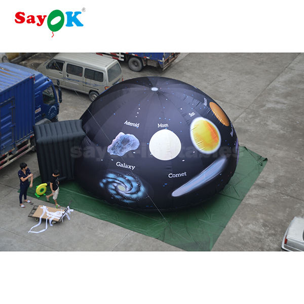6m star inflatable planetarium dome projection inflatable cinema full print