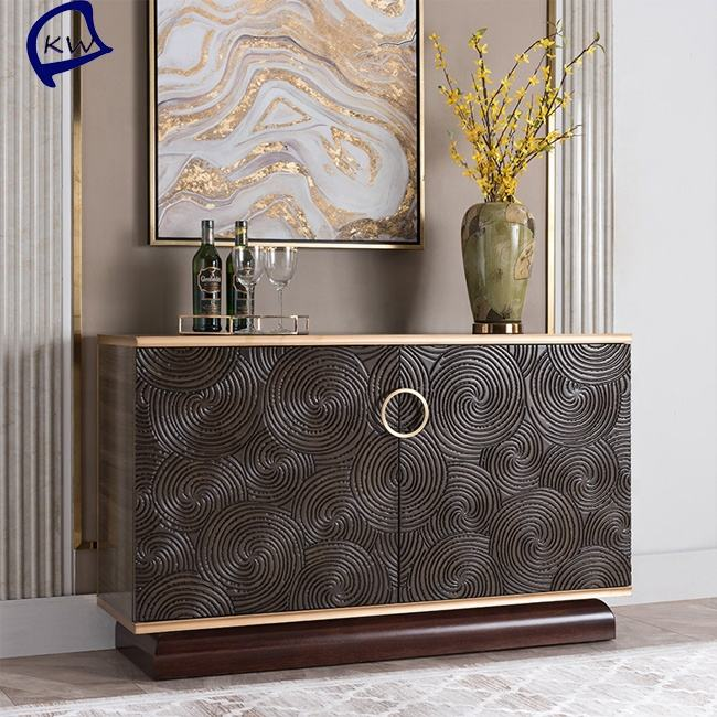 Foshan furniture antique design metal sideboard stainless steel gold sideboard