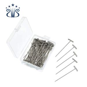 RTS 50pcs/Box 27/32/38/45/51/53mm Stainless Steel T Shaped Needle Hair Extension T Shape Needle