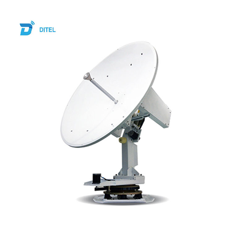Ditel V121 1.2m ku band 3-axis dish marine satellite internet service equipment satellite dish vsat antenna