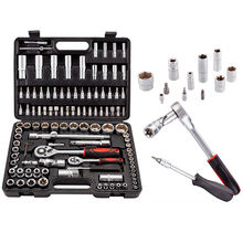 "108pcs 1/4"" 3/8"" 1/2"" Socket Set High Quality Hand Tools auto repair tools set"