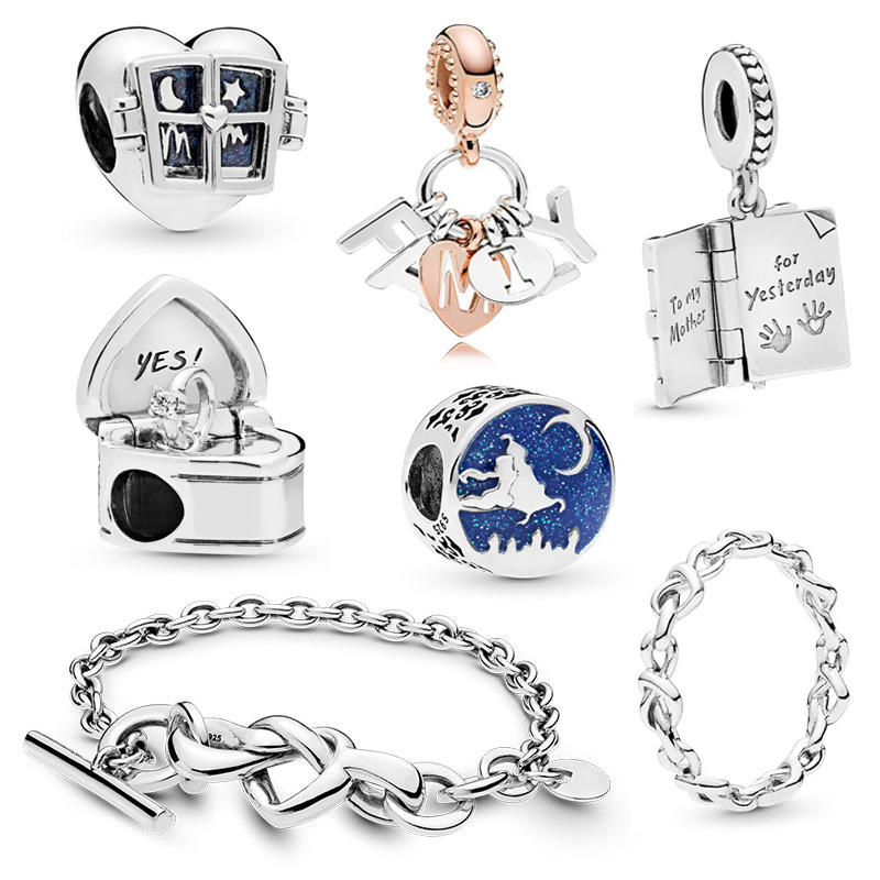 Factory Wholesale 2019 New 925 Sterling Silver Charms Bead Fit Pandora Charms Bracelet