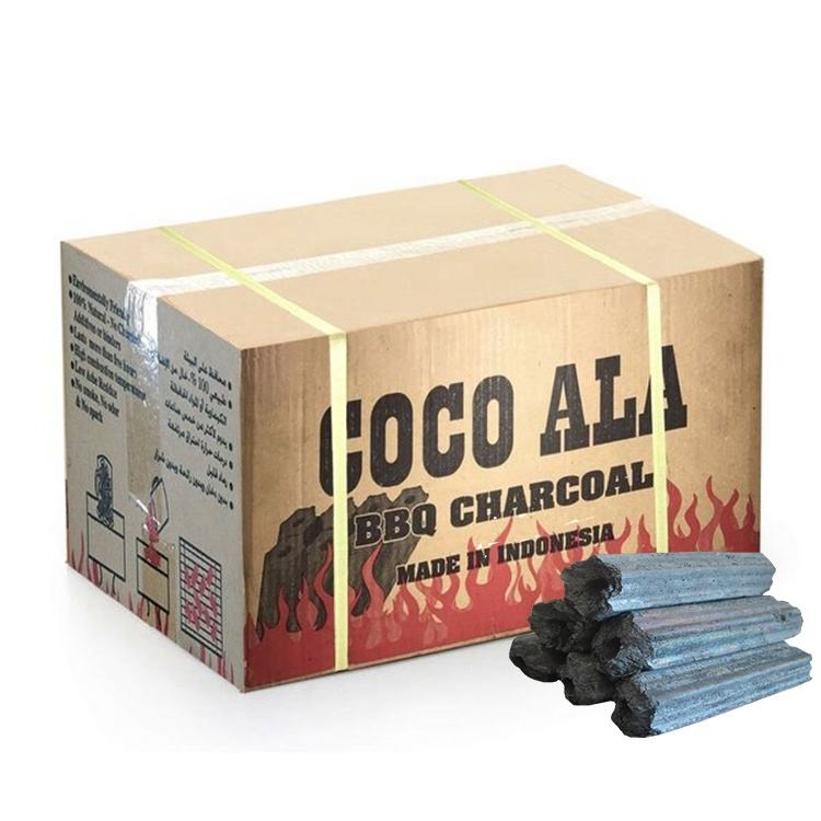 HQBQ0006 HongQiang Long Burning Time Eco-friendly Hexagonal Hardwood Barbecue Charcoal