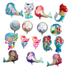 Party Decoration Use Large Size Aluminium Mermaid Cartoon Foil Balloon For Girl decorations party supplies