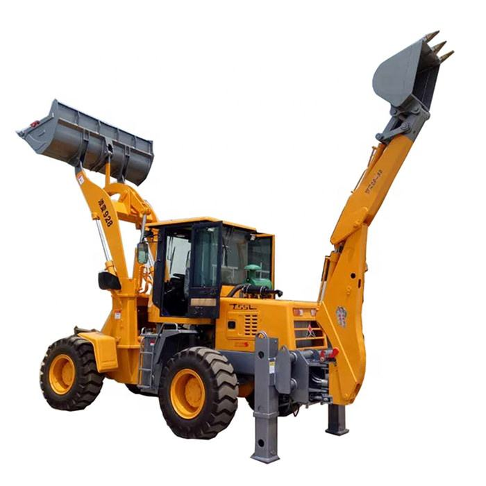 small garden tractor loader and backhoe with mower for sale
