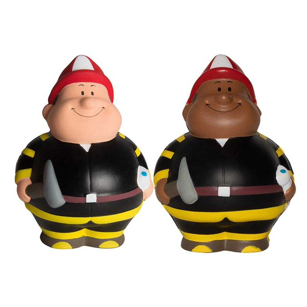 Promotion Gift PU Foam Squishy Fireman Bert Stress ball