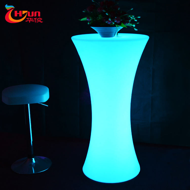 LED furniture illuminate 16 color changing led bar table with remote control