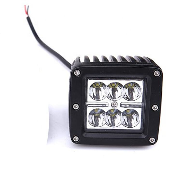 high intensity auto lamp LED Work light 18w spot light led car headlight driving light for truck car accessories