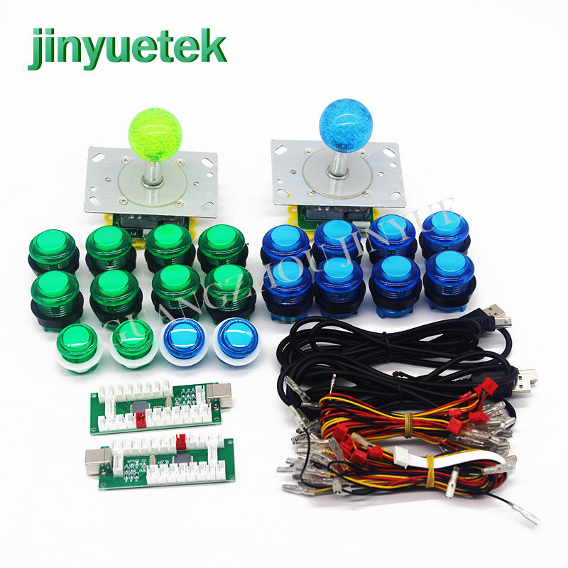 Jinyuetek Arcade kits color push button led switch pcb right angl