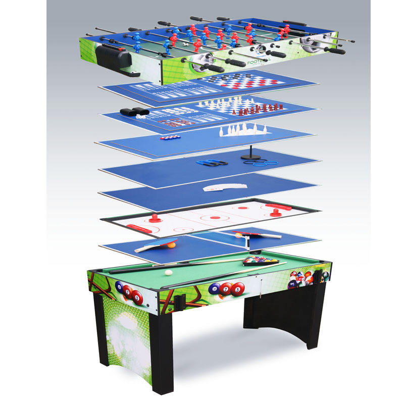 Multifunctional 13-in-1 Table Football Billiards Hockey Bowling Table Tennis