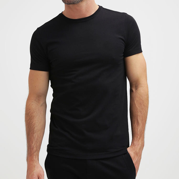 Custom Mens Muscle Slim Fit Organic Cotton Blank Gym T Shirt
