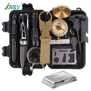 Emergency Survival Kit 13 IN 1 Camping Hiking Gear Outdoor Tactical Climbing Tools Compact Kits Blanket Compass for Hiking
