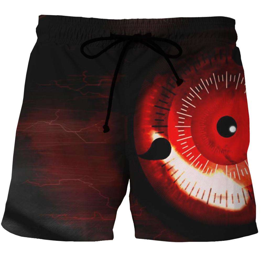 stock all over print Design your own sublimation print 3d custom swimming trunk mens beach board shorts red eye design