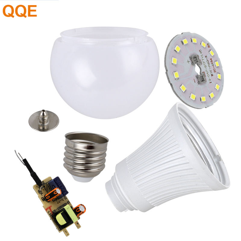 Free samples led bulb raw material 5W 7W 9W 12W 15W 18W 24W A60 skd/ckd led bulb lighting lamp
