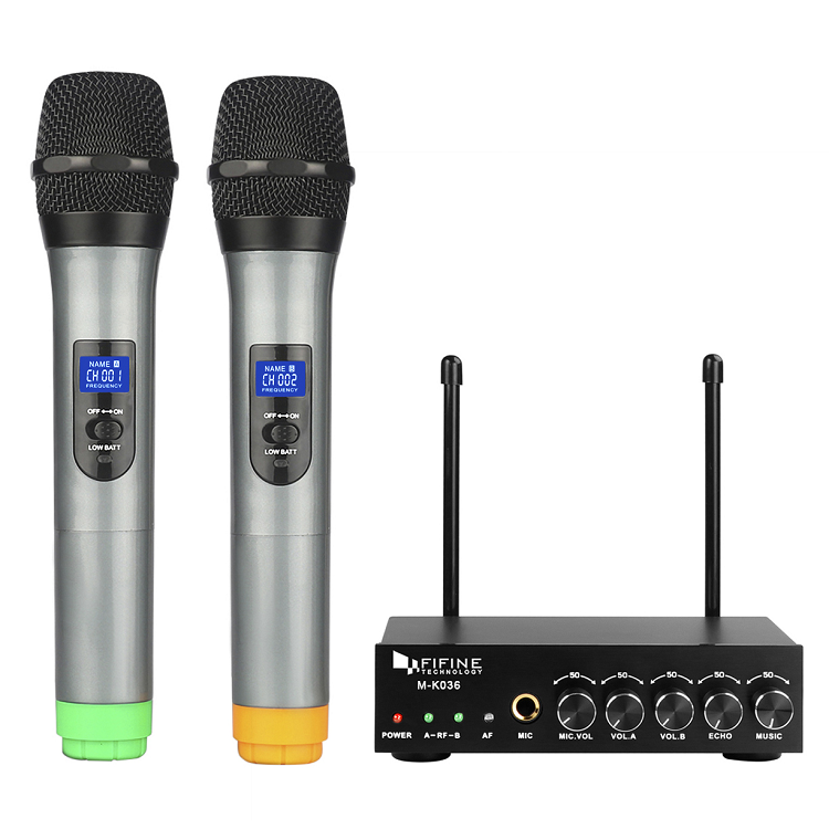 Fifine UHF wireless handheld mic mini dynamic microphone for karaoke