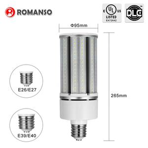Favorable price new design DLC Listed Corn Led Bulb 3000K 5000K 7000 Lumens 54W E27 E40 Corn Led Street Light
