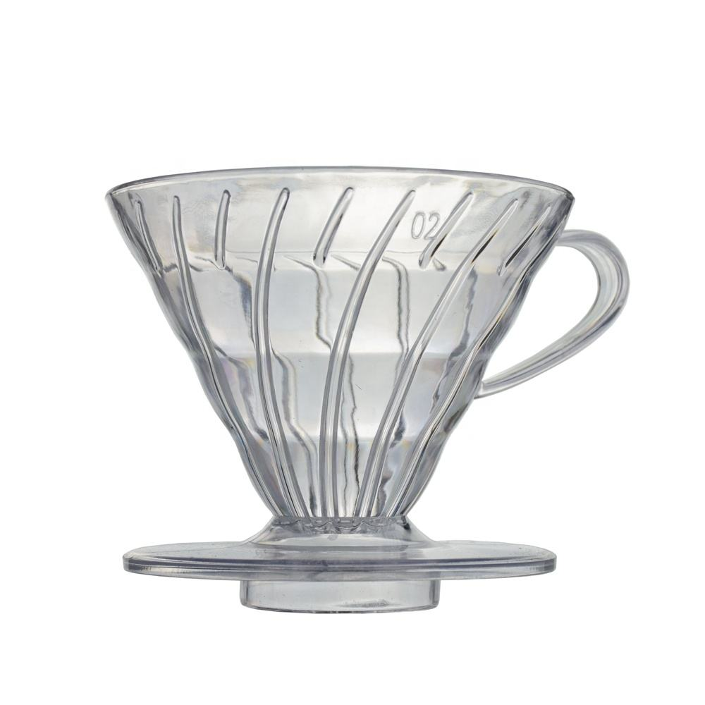 V01 Kitchen Accessories Promotional Price V60 Plastic 1-2/ 2-4 cups Coffee Dripper Reusable Round Shape Pour Over Coffee Filter
