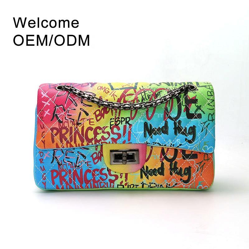 élégant nouveau sac graffiti <span class=keywords><strong>marques</strong></span> célèbres achats en ligne sacs à main dames sacs de mode femmes sacs à main épaule