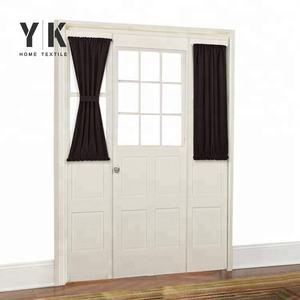 Серый патио декоративные fly экран двери занавес с бонусом регулируемый галстук-обратно транца окна занавес