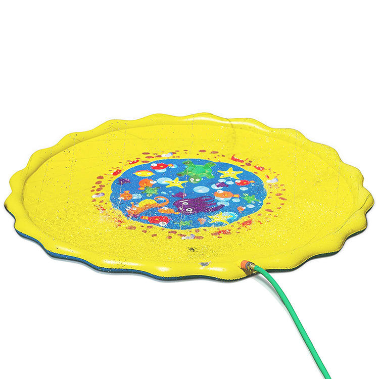 Splash play mat 67in-Diameter play mat Inflatable Outdoor Sprinkler Pad Summer Fun Water Toys for Kids Toddlers and Babies