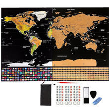 Hot selling product scratch off world map