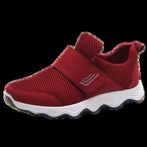 Ladies sport shoes soft and light women's single shoes Velcro walking shoes