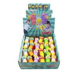 wholesale Hog Wild Animal Popper Toy Air Squeeze Foam Ball Shooter kid Play Outdoor Summer Beach Toy