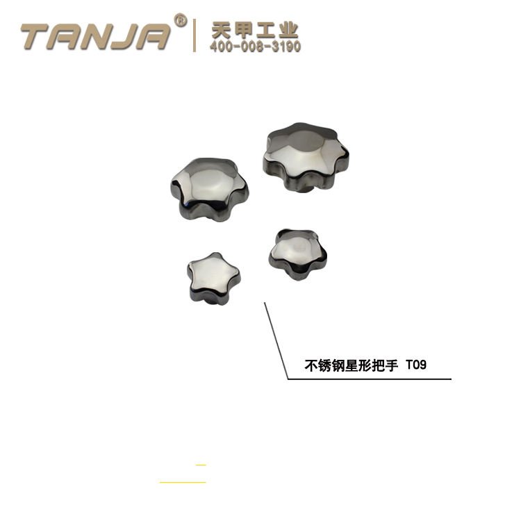 TANJA T09 Stainless Steel Lobe Knobs/Star Metal Knobs for machine