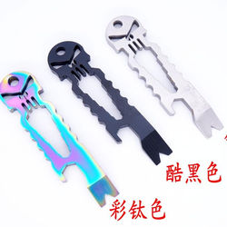 Custom Multifunctional EDC Tool Wrench bottle opener crowbar