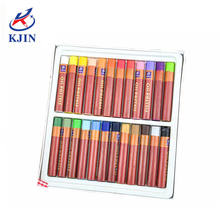 CE applied artist quality 24 colours round barrel oil pastels
