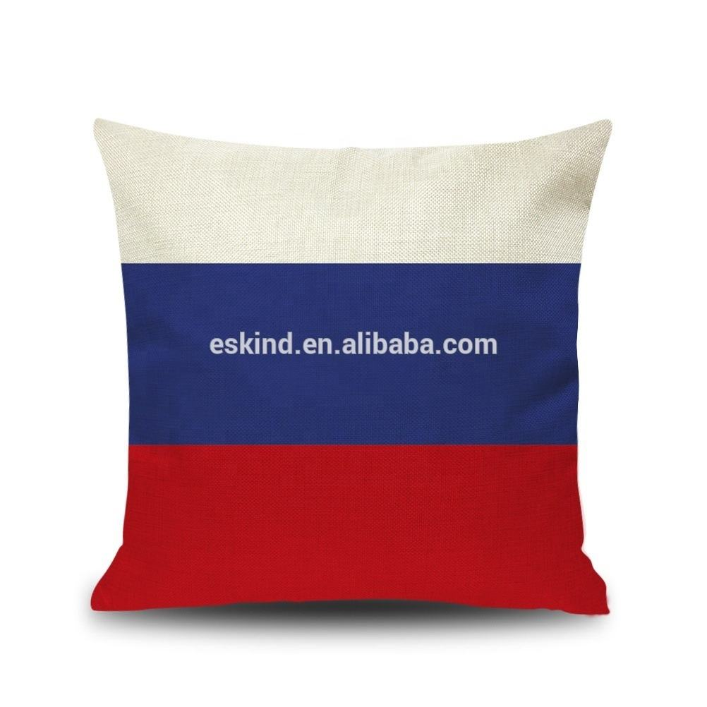 Eskind Soccer FIFA World Cup Russia Flag Pillow Covers Russia Football Fans Throw Pillowcases Cushion Cover