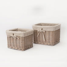 Custom made products liners small rectangular willow wicker food fruit storage gift box baskets without handles