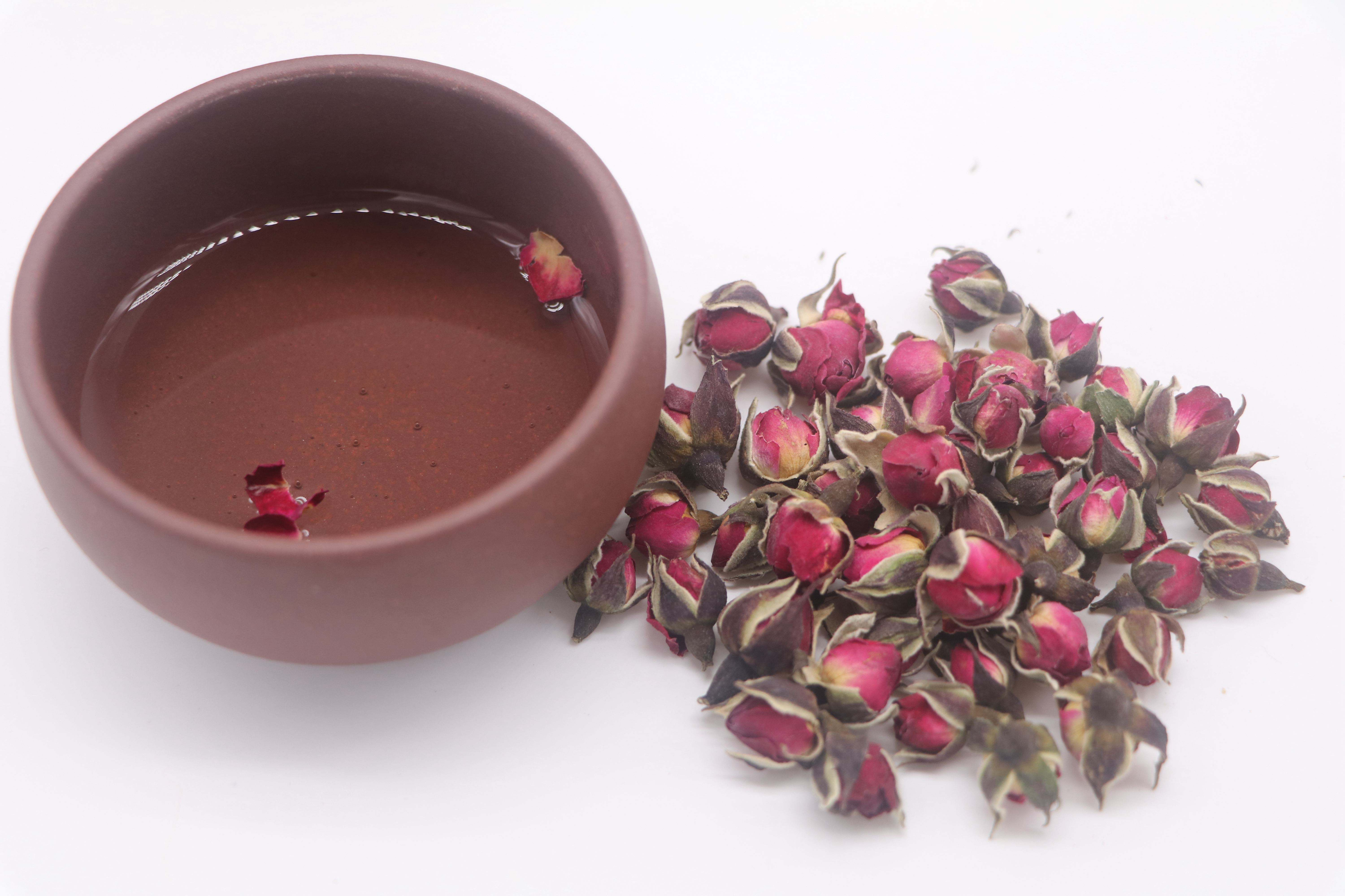 Free Sample Chinese Shining Herb Brand Gold Rose Phnom Penh Dried Roses Buds Flower Tea