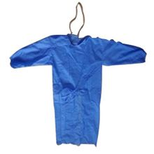 Disposable Non Woven PP Apparel Bulk Isolation Gown Elastic Cuff