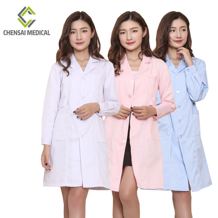 nurse suit white coat medical clothing nurse scrub suit design long sleeve uniform