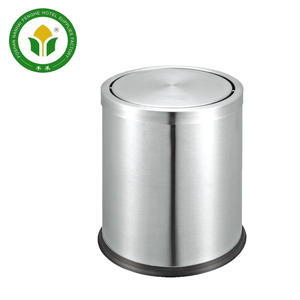 Customized size 12L hotel stainless steel rubbish bin waste bin trash bin