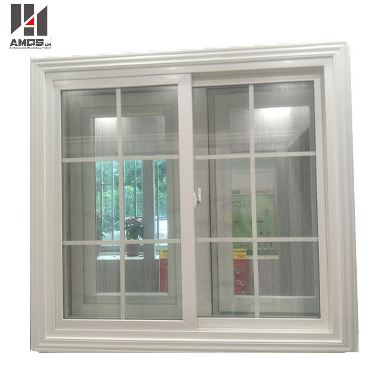 PVC Profile American Style Sliding Glass Grill Design Window And Door Picture