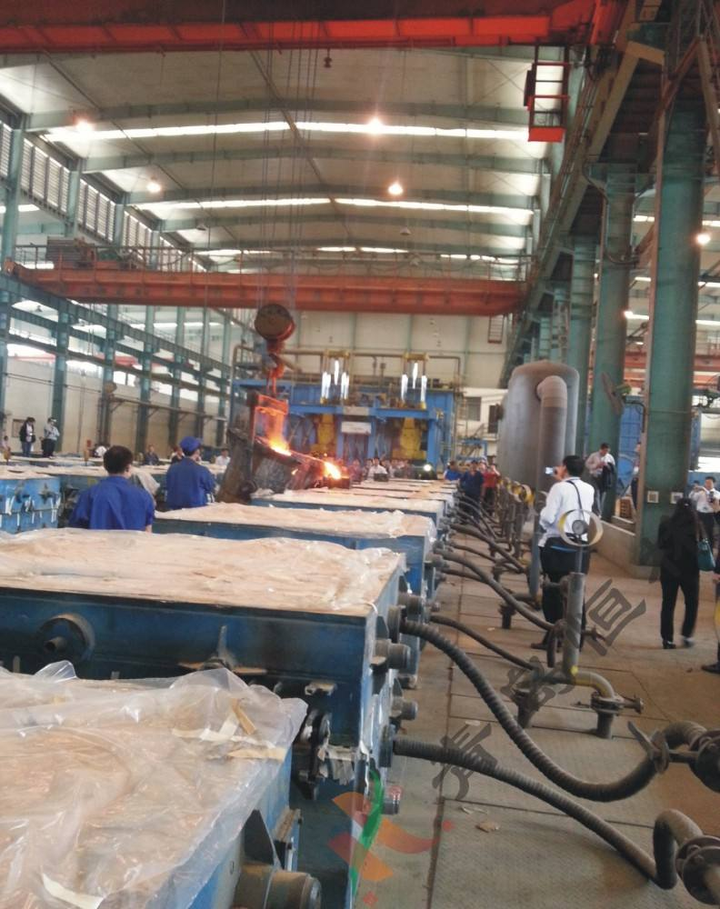 Vacuum Process Aluminum Casting Foundry V-process molding Machinery line