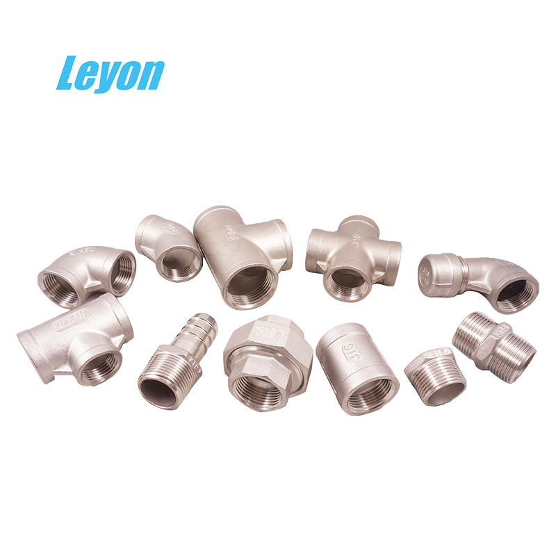 High quality hose nipple stainless steel pipe fittings dimensions SS304/316 tee joints stainless steel hexagonal bushing nipple