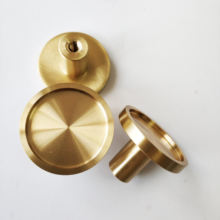 Home furniture decorative hardware solid brass cabinet handle wardrobe knob