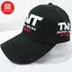 customized logo patch embroidery high quality 100% brushed heavy cotton racing black baseball cap