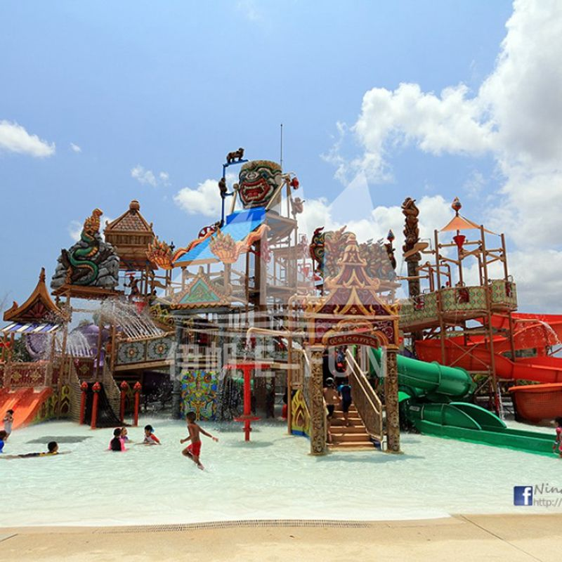 Aqua Play Rain Fortress Fun Park Commercial Playground Equipment With Fiberglass