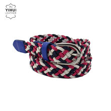 new product ideas 2021 Design Pu Braided Colorful Slim Fashion Women Belt For Dress