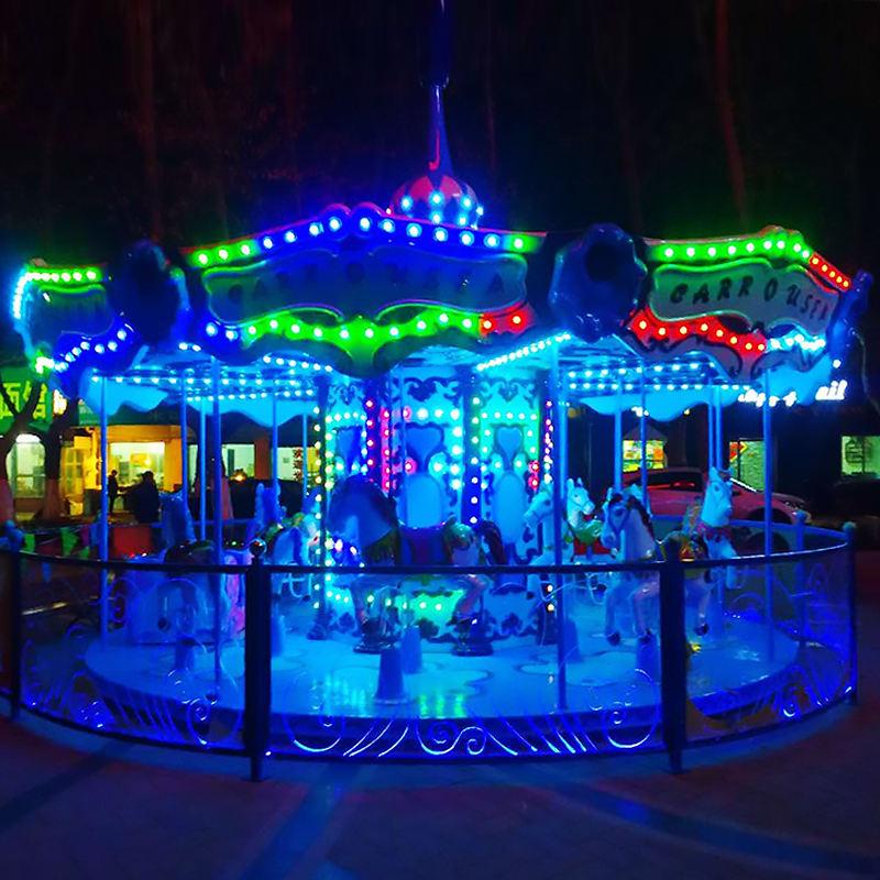 Direto da fábrica playground atraente parque de diversões passeios de carrossel de luxo merry go round