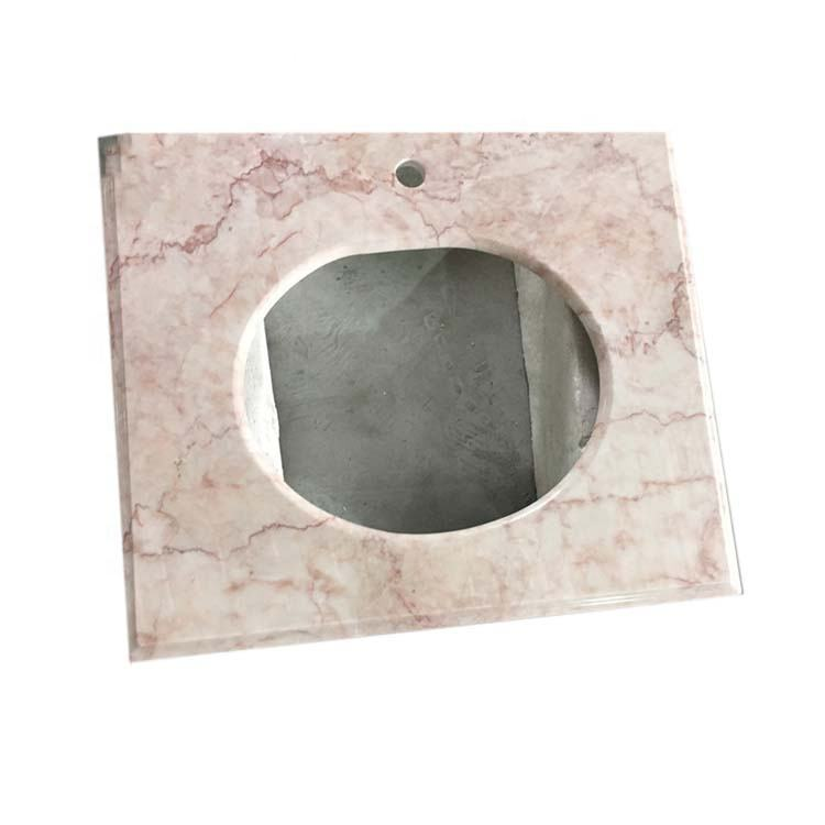 New style natural stone pink color milk rose marble bathroom vanity countertops