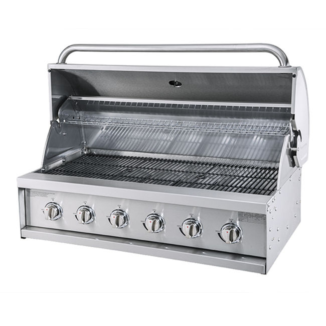 Top quality kitchen appliances full Stainless Steel 6 burners propane built in cabinet outdoor charcoal bbq gas grills