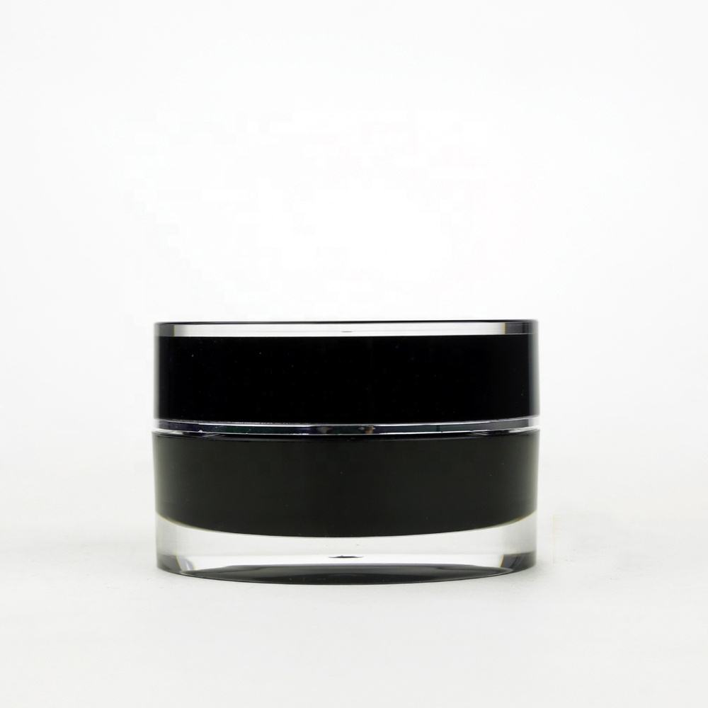 Acrylic cosmetic jars and bottle black face cream container lotion package jar