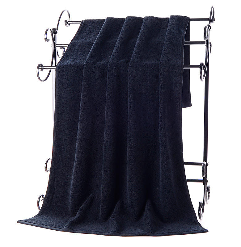 Manufacturers Selling Black Cotton Bath Towel Never Rub Off Big Towel Used In Hotel,Hotels,Bath,Beauty Salon